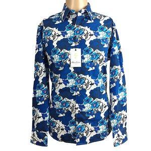 Robert Graham Mens Shirt Knoboak Blue White Floral